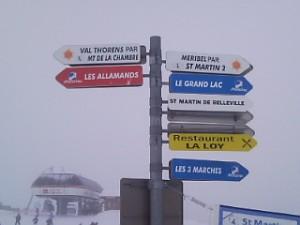arriver station de ski les menuires trajet