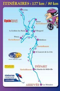 circuit sportif : vélo à la station de ski des menuires